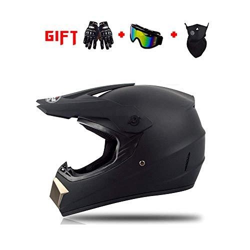 DZTIZI Motocross helm met bril handschoenen Crash Helm Beschermende Gear Unisex
