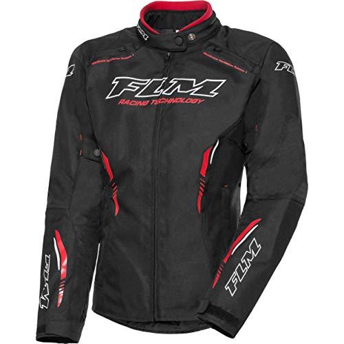 FLM Motorradjacke mit Protektoren Motorrad Jacke Sports Damen Textiljacke 6.0 schwarz L, Sportler, Ganzjährig