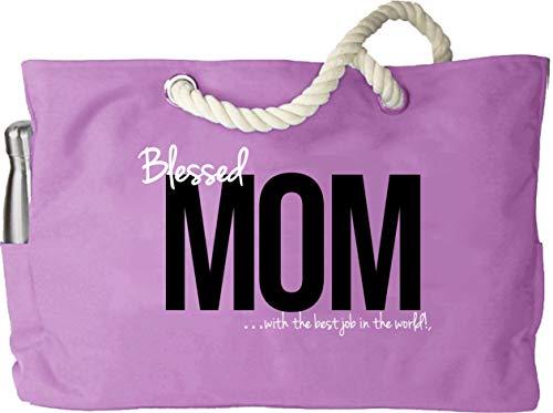 KEHO Waterproof Mom Diaper Bag XXL (HUGE) Baby Shower Gift Rope Handle Pockets (Pink)