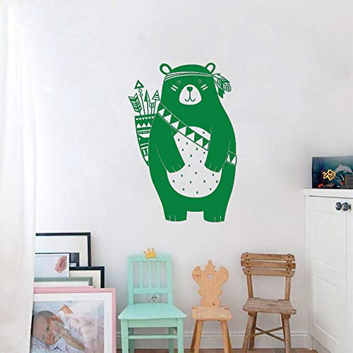 guijiumai Wandtattoo 40 Farben Vinylkunst Entfernbarer Wandaufkleber Tribal Bär Haustiere Tiere Kinderzimmer Dekoration Zoohandlung Dekor Z 6 85x60 cm