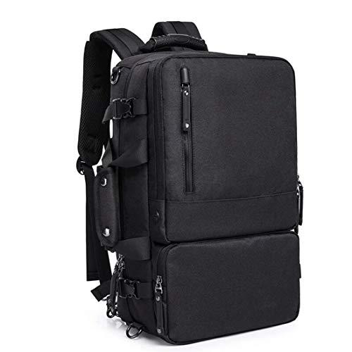 FENXIMEI Rugzak voor heren, antidiefstal, multifunctioneel, voor drie toepassingen, 16 inch computertas, college Oxford rugzak, grijs en zwart