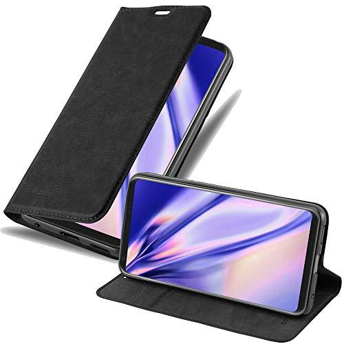 Cadorabo Funda Libro para LG V30 en Negro Antracita - Cubierta Proteccíon con Cierre Magnético, Tarjetero y Función de Suporte - Etui Case Cover Carcasa