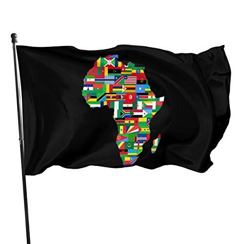 WH-CLA Bandera del Jardin Mapa Nacional Africano 150X90 Cm Granja Al Aire Libre Patio Trasero De La Casa Banderas De Jardín Banderas De Pared Interior Decoración Todas Las Temporadas FES