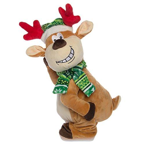 Simply Genius Dancing Reindeer, Twerking Naughty Reindeer Plush: Animated Christmas Plush, Animated Christmas Toys, Animated Christmas Decorations