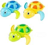 NIWWIN Juguetes clásicos de baño para bebés Tortuga mecánica para niños pequeños Niños...