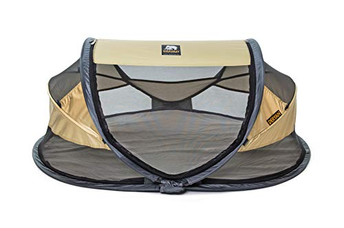 Deryan Travel Cot Baby Luxe Gold Travel Cot Baby Luxe Gold, gold