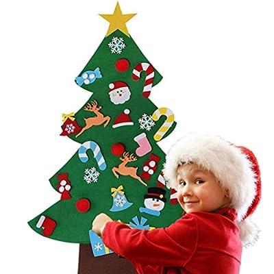 QIANSKY DIY Felt Christmas Tree Set, Wall Hangi...