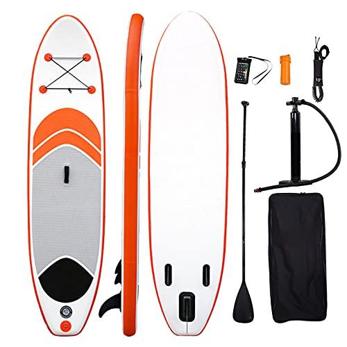ALLWIN Stand Up Paddle Board,Tabla de Sup para Jóvenes, Niños y Adultos,Tabla de Paddle Surf de 10,6 X 28 X 4 Pulgadas,con Kit de Tabla de Remo Inflable con Mochila,los 320X71x10cm,Orange