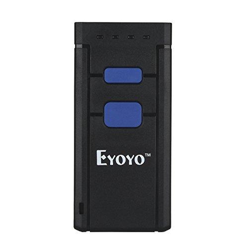 Eyoyo Mini-Handscanner, Bluetooth, Barcode-Scanner, 1D, CCD, kabellos, tragbar, mit rotem Licht, Barcode-Scanner, kompatibel mit Windows Android und iOS
