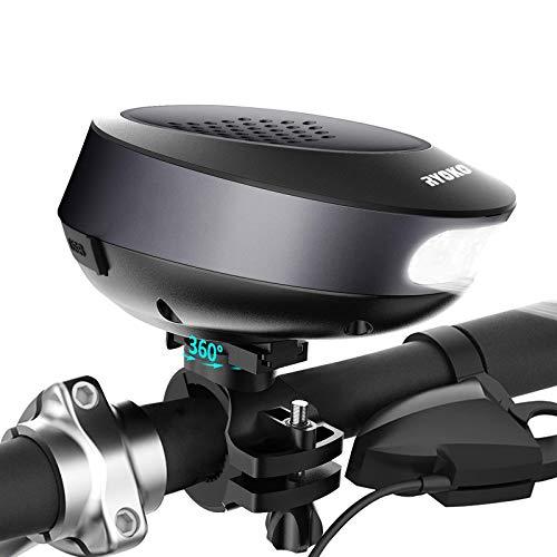 RYOKO Portable Bluetooth Bike Speaker with Bicycle Mount & LED Light,...