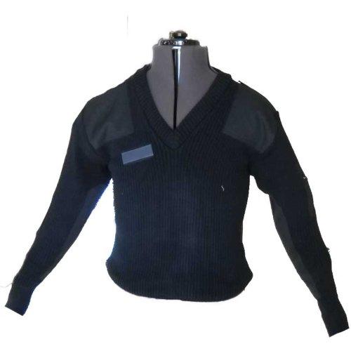 Fratelliditalia Maglione Maglia Pullover Scollo v Blu Lana Invernale vigilanza Guardia giurata