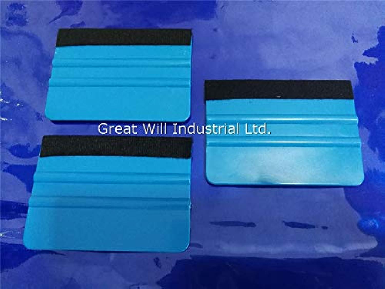 bluee Squeegee Felt Squeegee Vinyl Foils Car Wrap Application Tool Scraper 200pcs Lot