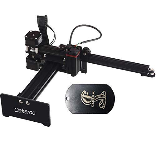 Oakeroo Master 2 Desktop 7 W Laser Engraving Machine Engraver CNC Cutter DIY Art Craft Logo Mark Printer Mini Carver Wood Engraving APP Control for Mac Android Outout Power 2.5 W