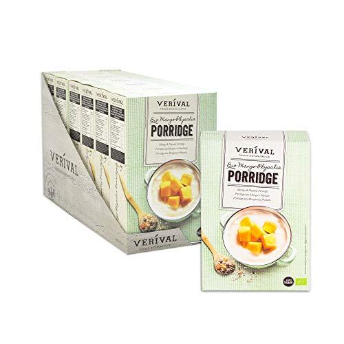 Verival Bio Mango-Physalis Porridge, 6 x 450g, vegan, ohne Palmöl, handgefertigt in Tirol