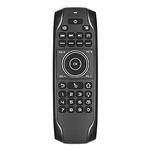 Domilay Teclado 5,0 G7BTS Giroscopio Retroiluminado por Infrarrojos Aprendizaje RatóN de Aire Control Remoto para Smart TV Box Tableta Ordenador PortáTil