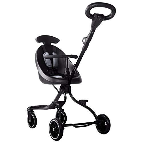 Baby trolley Leichter Kinderwagen, Faltbarer Puppenwagen mit Drehrad, Zweiwege-Kinderwagen, 5-Punkt-Sicherheitsgurt, Sonnenschirm und Aufbewahrungstasche