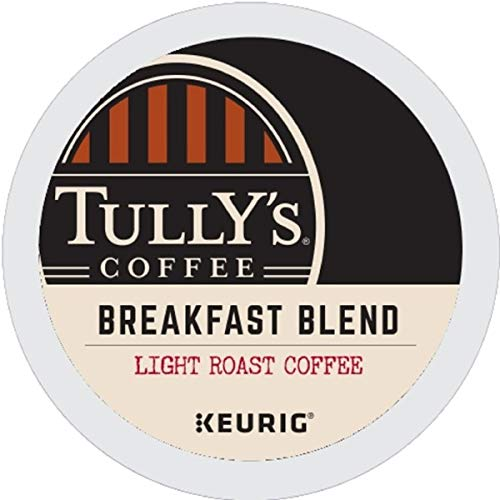 Tully's Coffee, Breakfast Blend, Single-Serve Keurig K-Cup Pods, Medium Roast Coffee, 96 Count (4 Boxes of 24 Pods)