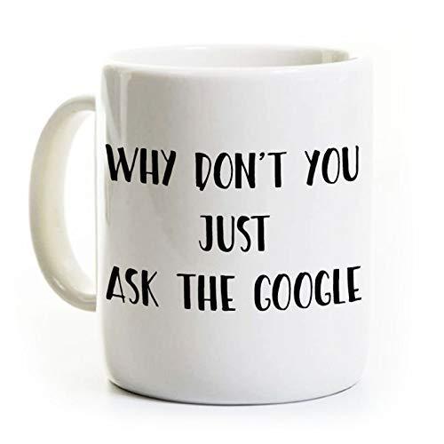 N\A Taza de café Divertida de Google - Regalo para un Amigo - Personalizable