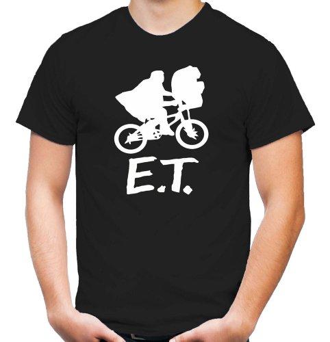 E.T. - Der Außerirdische T-Shirt   Kult   Alf   Männer   Herrn   Science   Fiction   ET   Film   Funshirt   M1 Black (L)