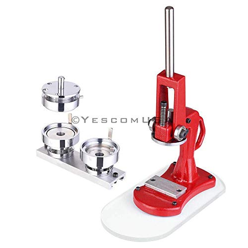 2� Inches 5.8cm Die Diameter Button Pin Pinback Maker Machine w/ 1,000 Parts & Circle Cutter Set of Installation Accessories for Business Souvenirs Event