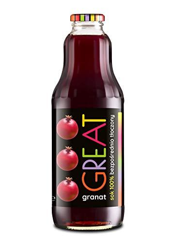 GREAT- Granatapfelsaft 100% 1l nicht konzentrierter Saft, natürlich und vegan Hoher Vitamin C-Gehalt 6er-Pack (6 x 1000 ml)