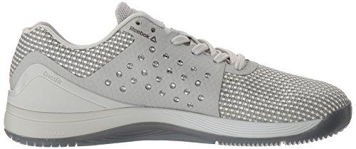 Reebok Women's Crossfit Nano 7.0 Cross-Trainer Shoe, White/Skull Grey/Black, 6/6.5 UK
