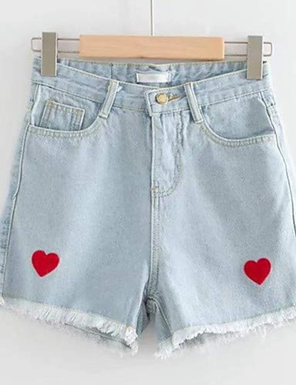 Women's Active Cotton Shorts Pants  Geometric Print High Waist Summer