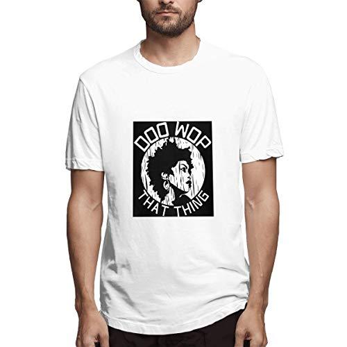 Genertic Lauryn Hill T-Shirt Uomo Moda Casual Sport Cotone Manica Corta T-shirt Top bianco XL