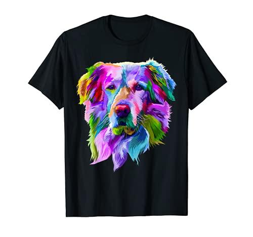 Golden Retriever Pop Art Porträt für Hundebesitzer T-Shirt