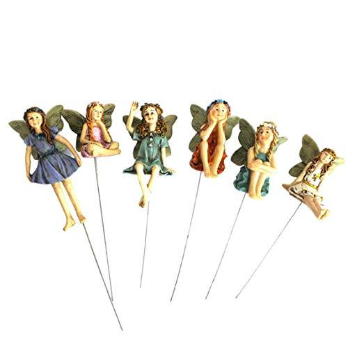 Heall Blumentopf Dekoration 6pcs Miniatur Feen Figuren Zubehör für Outdoor-Dekor