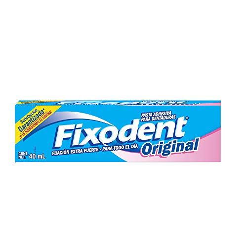 Fixodent Complete Denture Adhesive 47 g, Original Light Minty Flavour (for Full and Partial Dentures)
