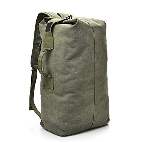 Hanggg Mochila de viaje de gran capacidad de moda, mochila para hombre, bolsa de deporte de viaje al aire libre, bolso de hombro de lona para hombre