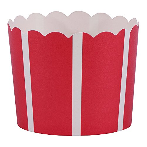 Hoffmaster 600119 Simply Baked Large Paper Baking Cup, 2-1/8' High by 2-3/8' Base, Scarlet Vertical (Pack of 500)