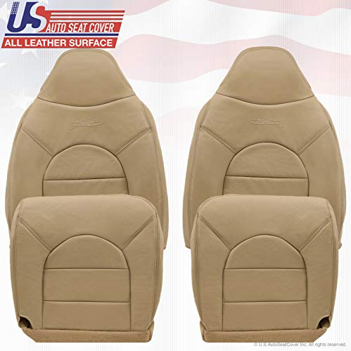 2000 Fits Ford F250 F350 F450 Lariat Front 2X Tops 2X Bottoms Leather Seat Covers tan -  US Auto Seat Cover, mx1_332678448035_21D1D01E7D2B4E2EB722A37