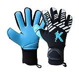 KATCH IPRO 02 - Guantes de portero de fútbol (corte negativo, tamaño 7, sin dedo, personalización)