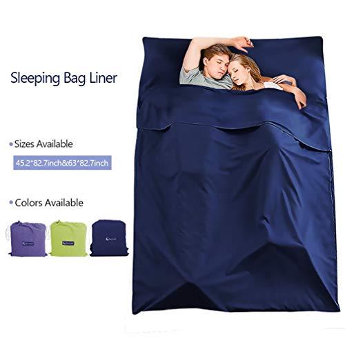 Make You Perfekter Schlafsack aus Baumwolle, leicht, für Camping, Reisen, für Rucksackreisen, Hotel, Picknick, Wandern, dunkelblau, 45.2 x82.7inch