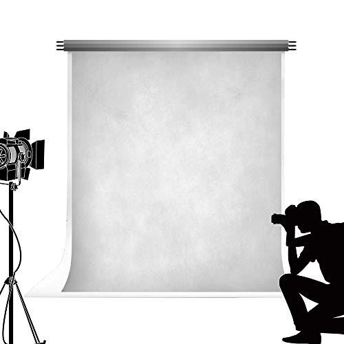 Kate Telón de Fondo 2x3m Fondo Gris Plateado Fotografía en Gris Blanco Telón de Fondo Retrato Fotografía Tinte Telón de Fondo Atrezzo para fotografía de Estudio