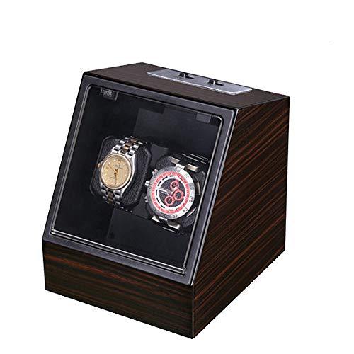 Scatola Automatica per Carica Orologi Winding L'automatico della Watch Winder con 2 posti Winding e 5 modalità di Rotazione di Adattatore AC è Molto tranquilla Look Unico ed Elegante