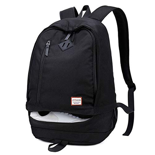 Laptop Backpack Football Basketball Sports Rucksack College School Bag with Boot Shoe Compartment Travel Gym Soccer Water Resistant Lightweight Daypack for 11 Inch Laptop