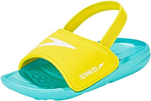 Speedo Atami Sea Squad Slide Infant, Chanclas Unisex niño, Azul (Azul Bali/Amarillo Imperio 943), 27 EU