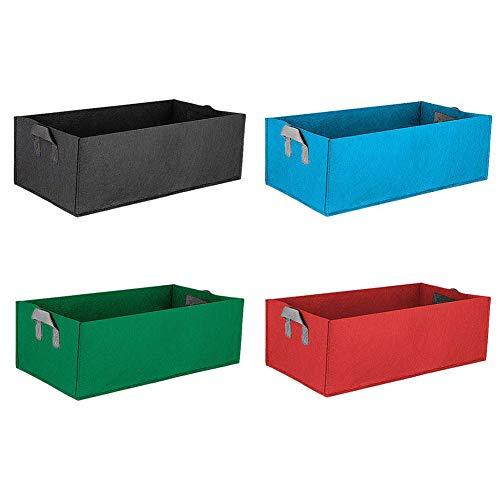 Moonvvin Lot de 4 sacs de culture carrés en feutre Taille unique S : 40 x 30 x 20 cm.