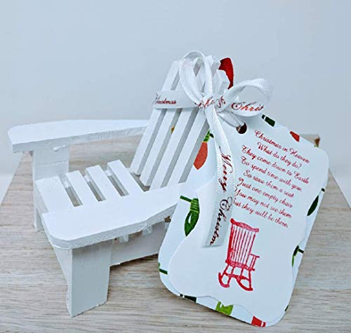 Christmas in Heaven Chair Ornament - Remembrance Gift - White