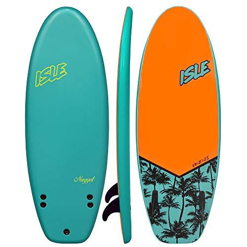 ISLE Nugget 4'11 Soft Top Surf Board Package (Aqua, 4'11)