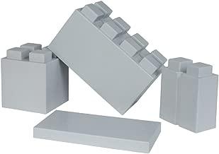 EverBlock Modular Building Blocks Combo Pack, Light Grey, 29 Block