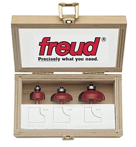 Freud 89-550 Cove - Juego de 3 brocas para router