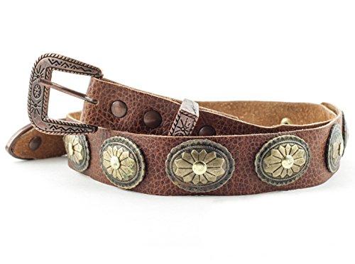 Western-Lederhutband HB-30 Hutband aus Leder für Cowboyhüte & Westernhüte als dekorative Ergänzung Cowboyhut Zubehör und Accessoires Braun
