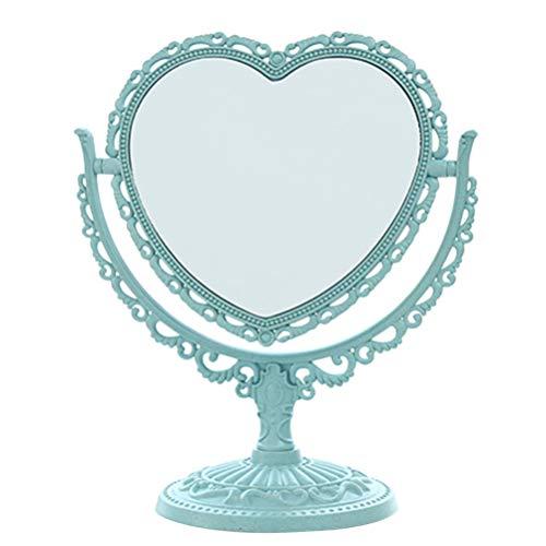 Beaupretty Espejo de tocador de sobremesa Espejo de maquillaje de aumento de doble cara con rotación de 360 ??grados (en forma de...