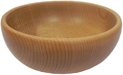 Wooden World - Cuenco decorativo de madera para frutas y nueces – Cuenco de madera de haya natural estilo rústico para merienda – 23 cm