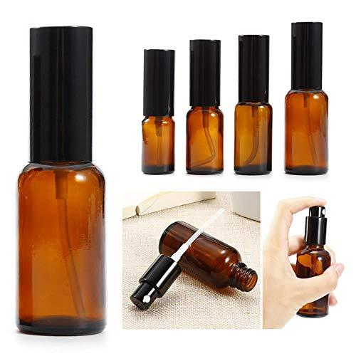 ASP 15/20/30/50 ml Flacon pulvérisateur en verre de couleur ambrée pour huile essentielle, chimique, parfum, 15 ml
