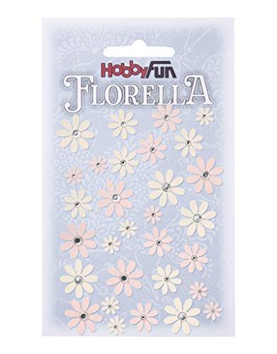 FLORELLA Papier-Blüten Design I, rosè-creme, Btl. a 33 St.